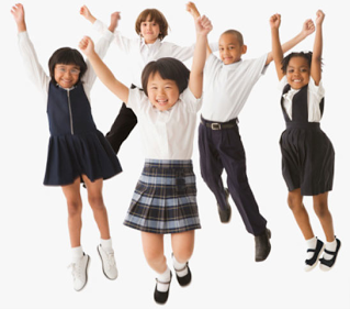 students and uniforms
