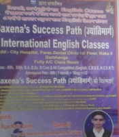 SAXENA SUCCESS PATH INTERNATIONAL ENGLISH CLASSES