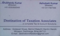 Destination Of Taxation Associates